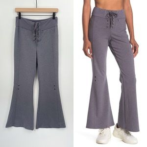 New Free People Movement High Rise Pants Flare Wide Leg Size Small